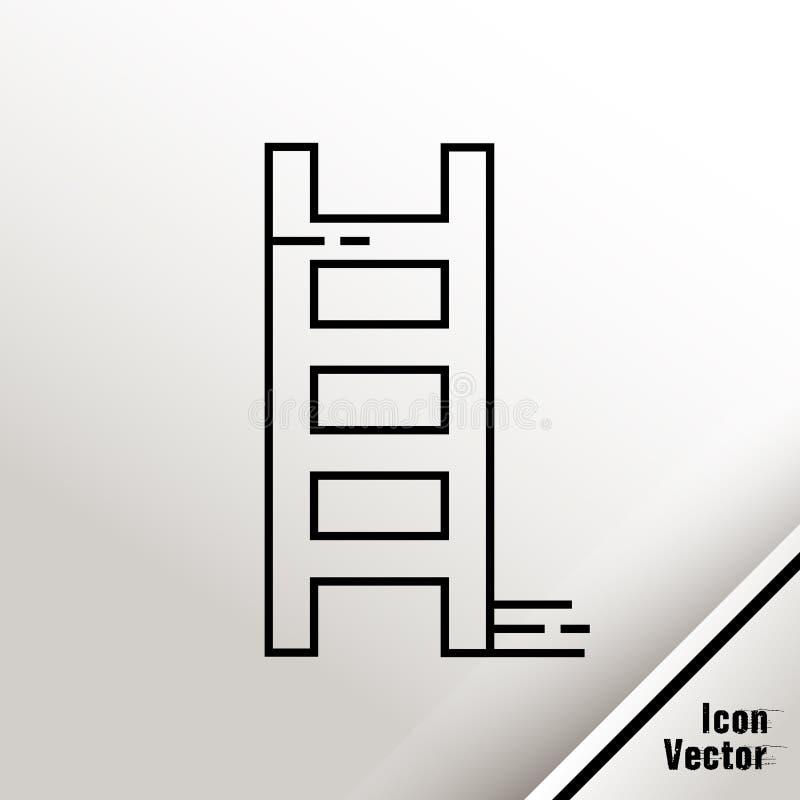 La escalera resumió el ejemplo del icono del vector aislado en el fondo blanco ilustración del vector