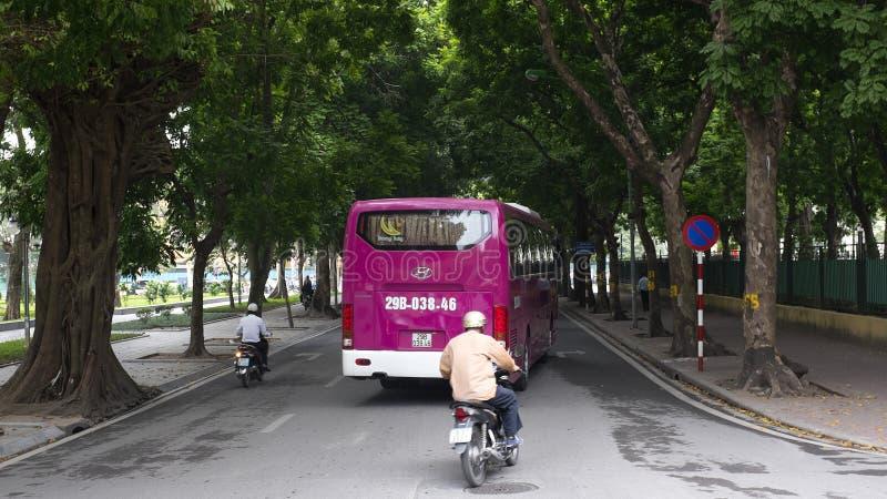 La escena de la calle en Hanoi Vietnam 2015 imagen de archivo libre de regalías