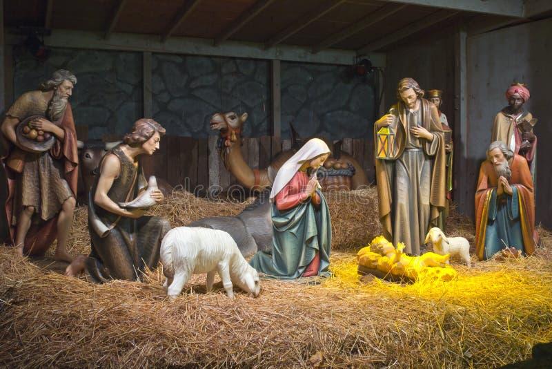 La escena de la natividad. foto de archivo