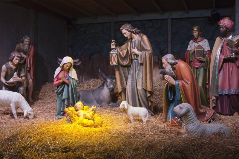 La escena de la natividad. fotografía de archivo libre de regalías