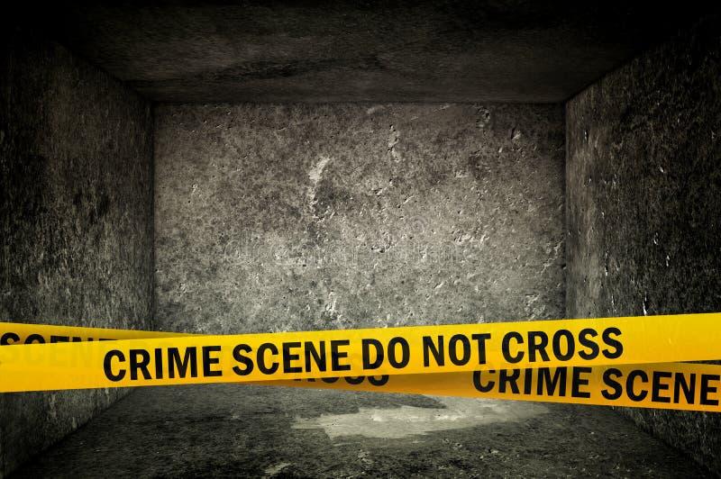 La escena del crimen no cruza fotos de archivo libres de regalías