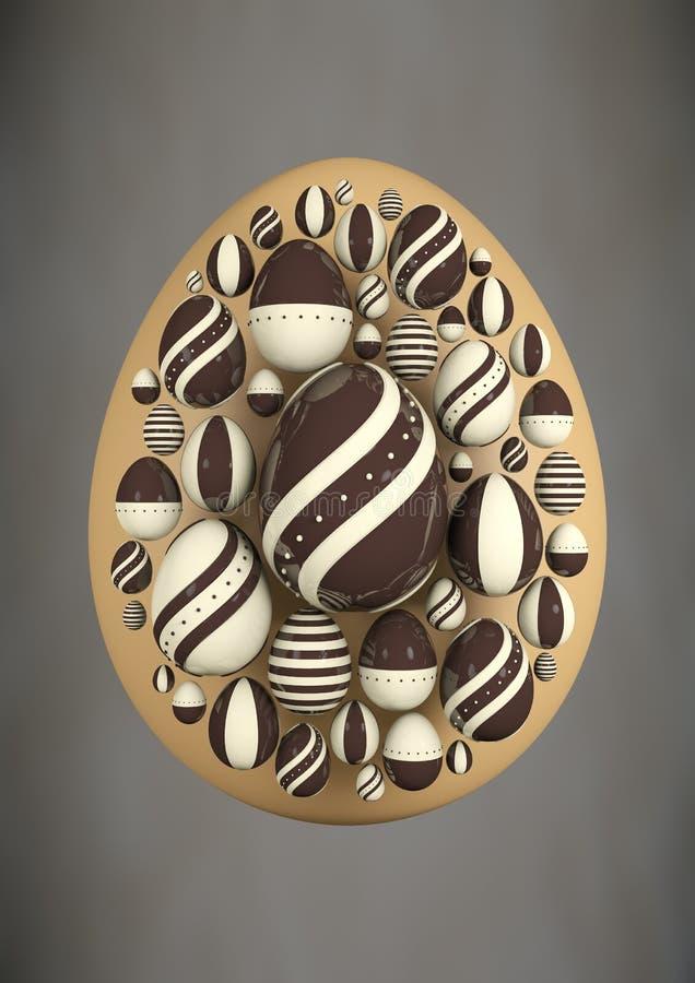 La escena eggs Chocolat 2017-1 libre illustration