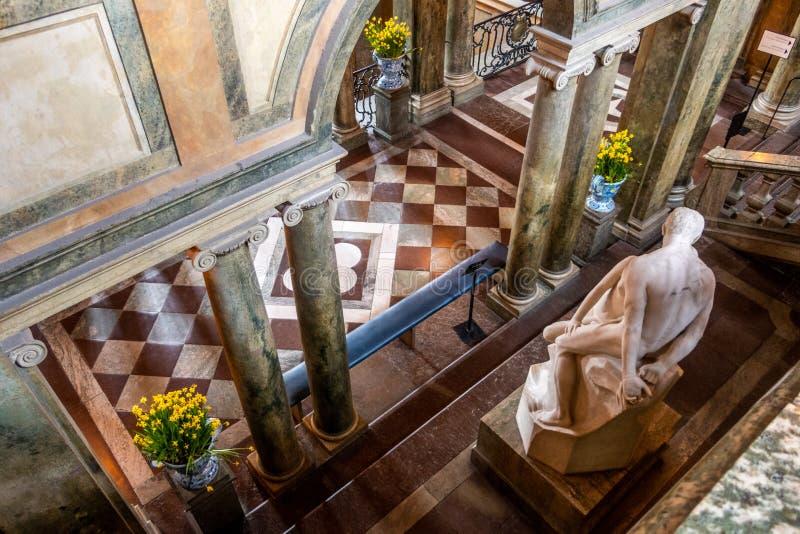 La escena en Royal Palace aka Kungliga slotten, Stadsholmen, Gamla stan, Estocolmo, Suecia imagen de archivo