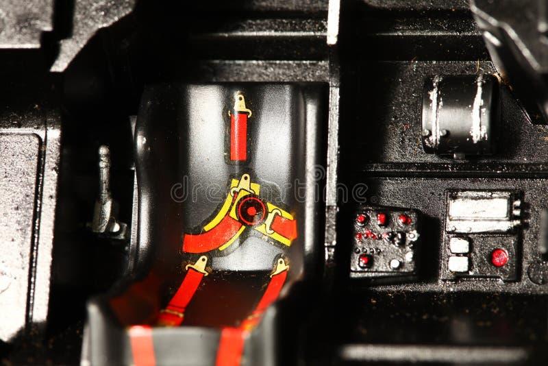 La escena modelo plástica miniatura del asiento de carro fotografía de archivo libre de regalías