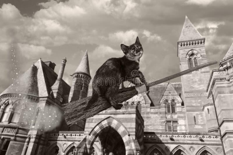 La escoba mágica de Clarabelle fotos de archivo