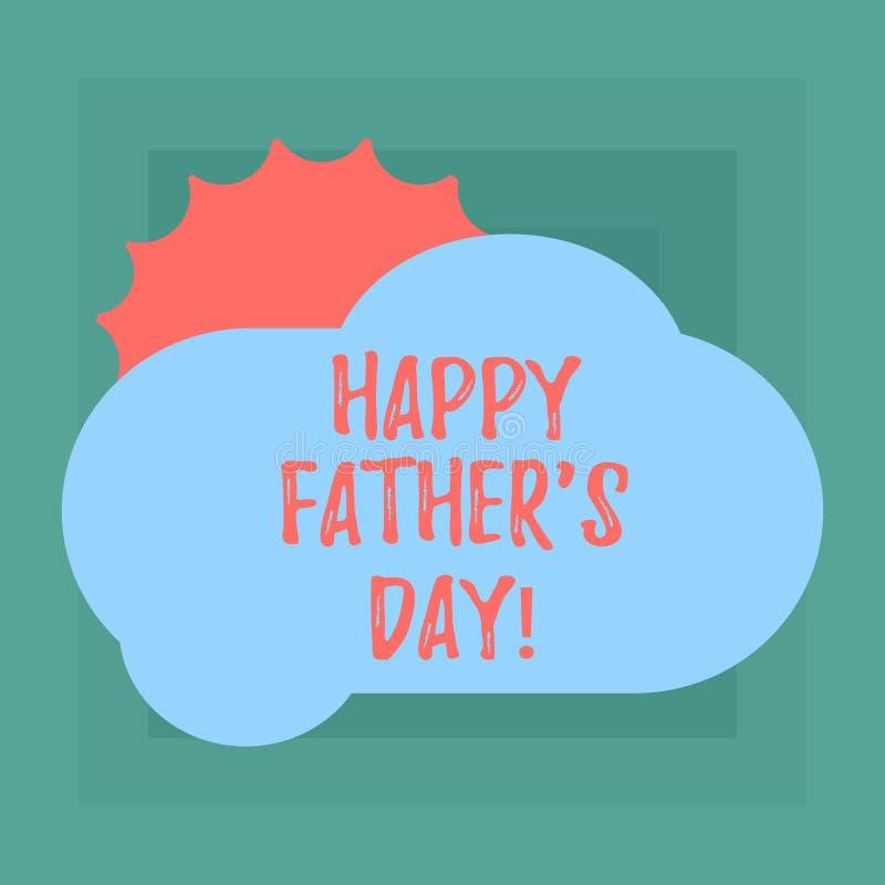 La escritura conceptual de la mano que muestra al padre feliz s es día Celebración de exhibición de la foto del negocio que honra libre illustration