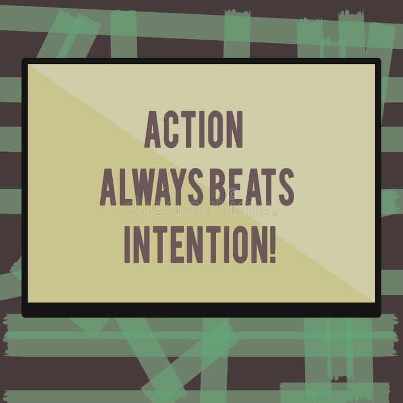 La escritura de la nota que muestra la acción bate siempre la intención La exhibición de la foto del negocio materializada hace q libre illustration