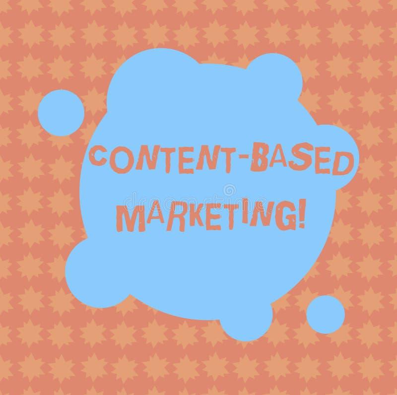 La escritura del contenido de la demostración de la nota basó el márketing Publicidad de exhibición de la foto del negocio que cr stock de ilustración