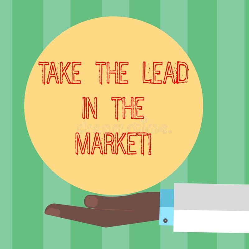 La escritura del texto de la escritura toma la ventaja en el mercado El significado del concepto sea la marca más importante entr stock de ilustración