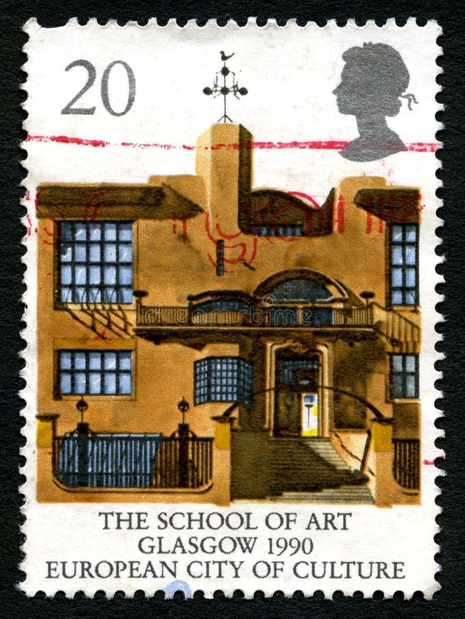 La escuela del arte en sello BRITÁNICO de Glasgow fotografía de archivo libre de regalías