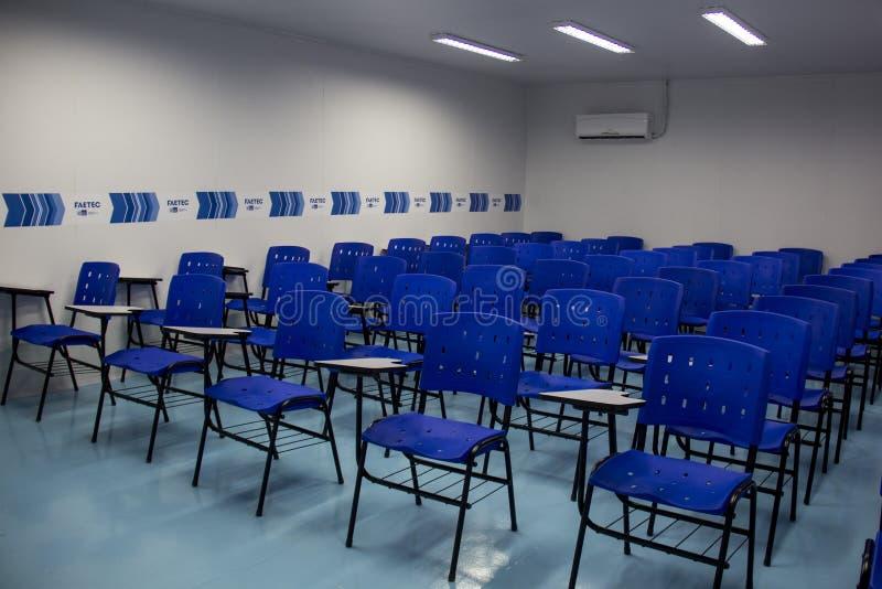 La escuela técnica fue abierta con Río 2016 recursos olímpicos del comité imagen de archivo