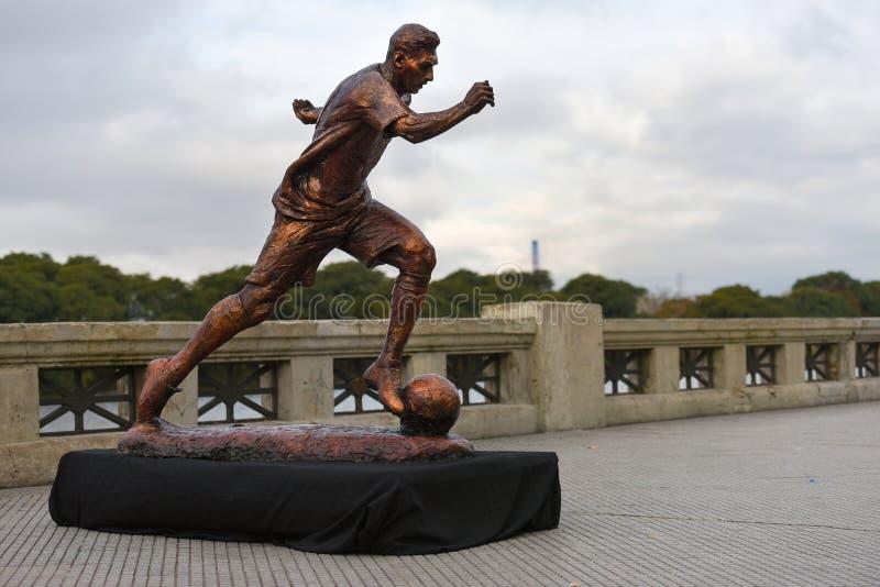 La escultura de la estrella de fútbol Lionel Messi fotos de archivo libres de regalías