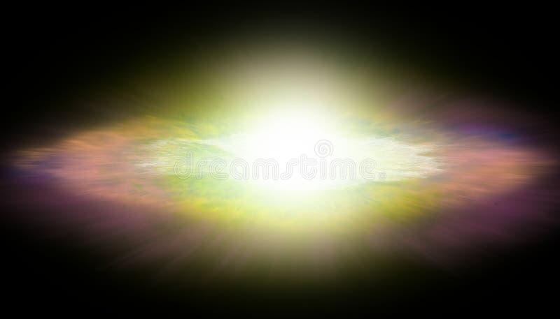 La esfera brillante del gas en el universo imagen de archivo