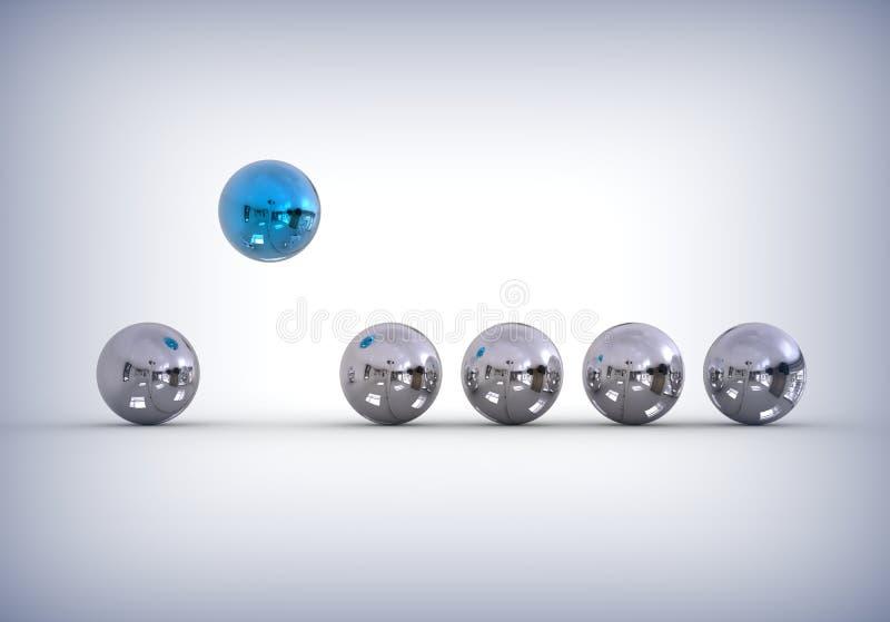 La esfera se destaca concepto ilustración del vector