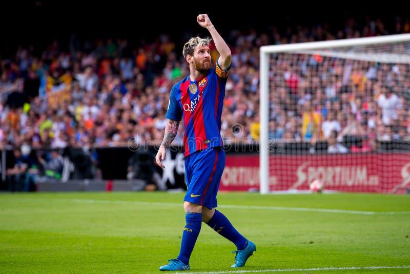 La espagnole Liga : FC Barcelona du Valencia CF v images libres de droits