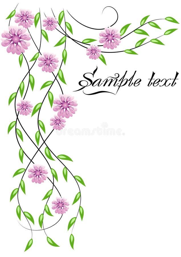 La esquina florece el ornamento libre illustration