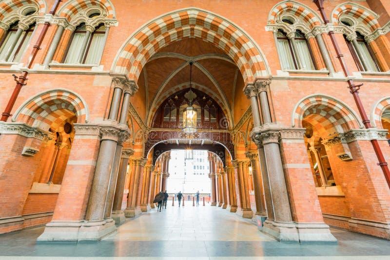 La estación hermosa del International de St Pancras imagen de archivo libre de regalías