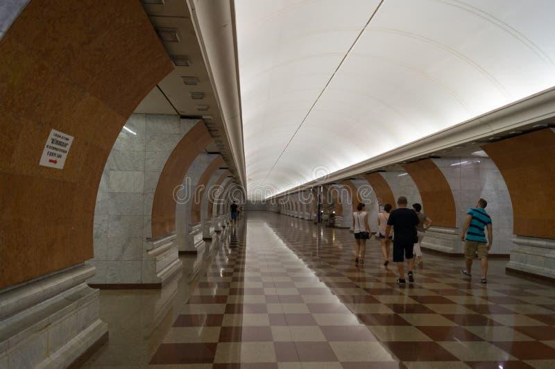 La estación Victory Park fotos de archivo libres de regalías