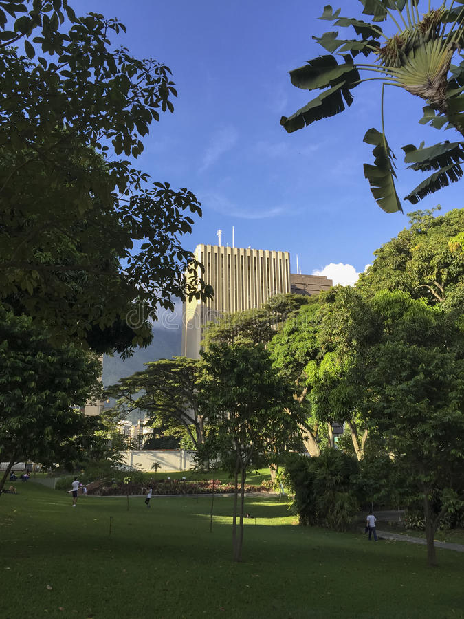 La Estancia del parque público en Caracas, Venezuela fotografía de archivo