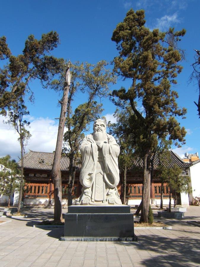 La estatua de Confucius fotos de archivo libres de regalías