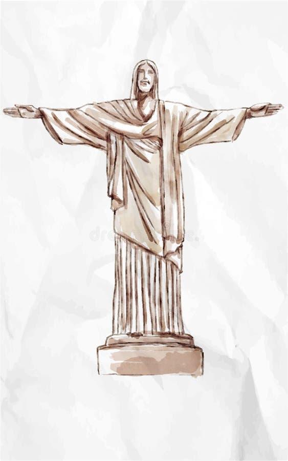La estatua de Cristo libre illustration
