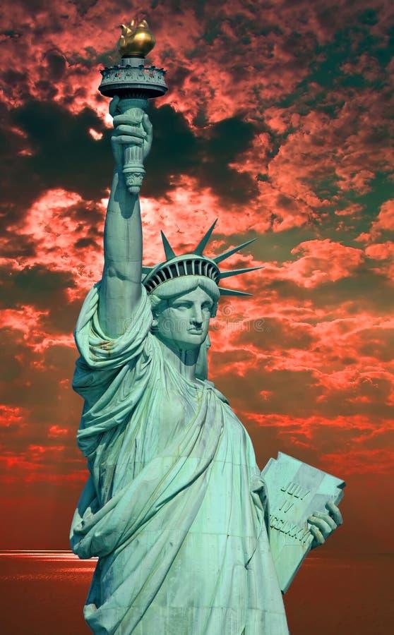 La estatua de la libertad fotografía de archivo libre de regalías