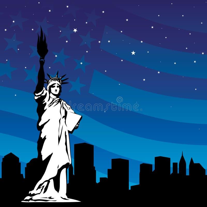 La estatua de la libertad stock de ilustración