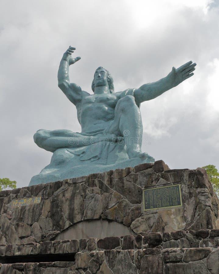 La estatua de la paz de Nagasaki foto de archivo
