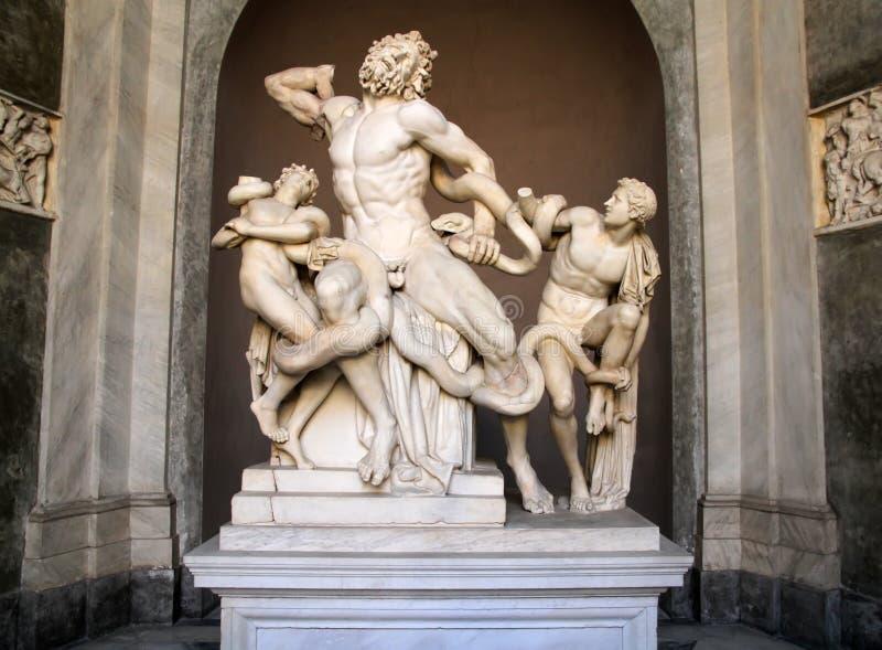 Estatua de Laocoon y de sus hijos, museo de Vatican imágenes de archivo libres de regalías