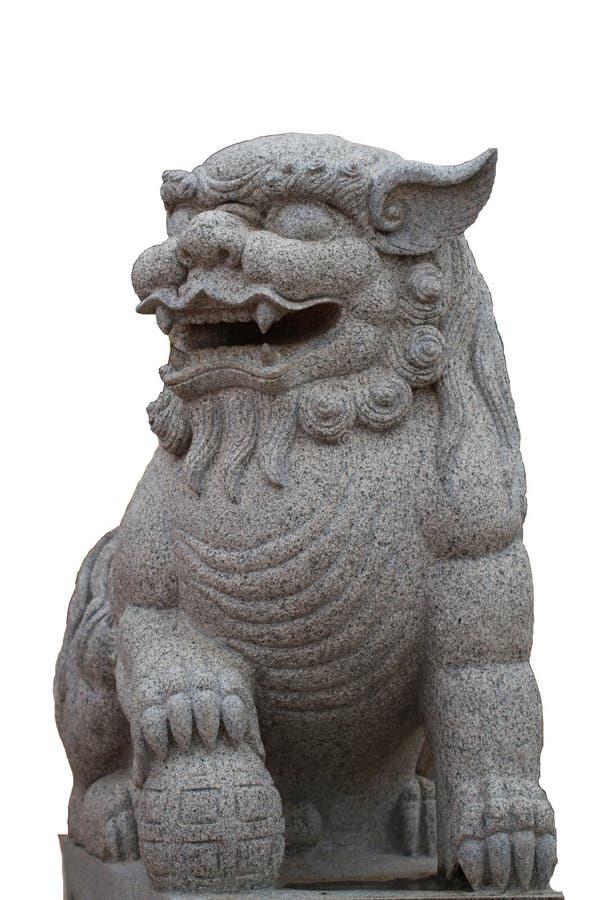 La estatua de piedra antigua del caballo del dragón delante del templo chino, éxito de la salud de la suerte ruega la escultura d imagenes de archivo