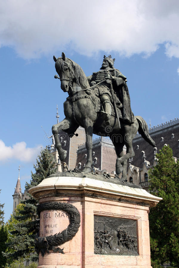 La estatua de Stefan en Iasi imágenes de archivo libres de regalías