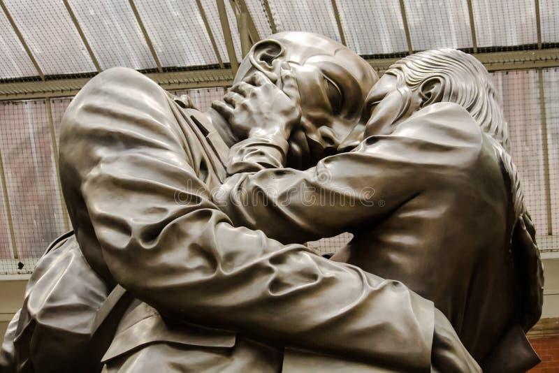 La estatua del lugar de reunión fotografía de archivo