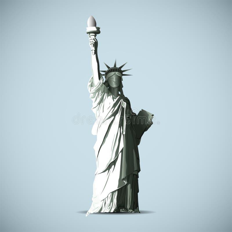La estatua del negro del vector de la libertad sombrea la silueta stock de ilustración