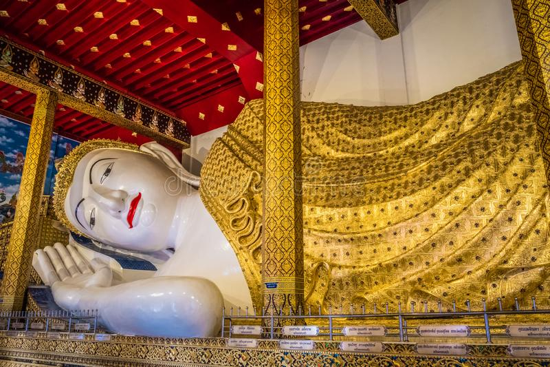 La estatua más grande de Buda de Tailandia 'Wat Den Salee Sri Muang Gan nombrado templo Wat Ban Den ' fotografía de archivo