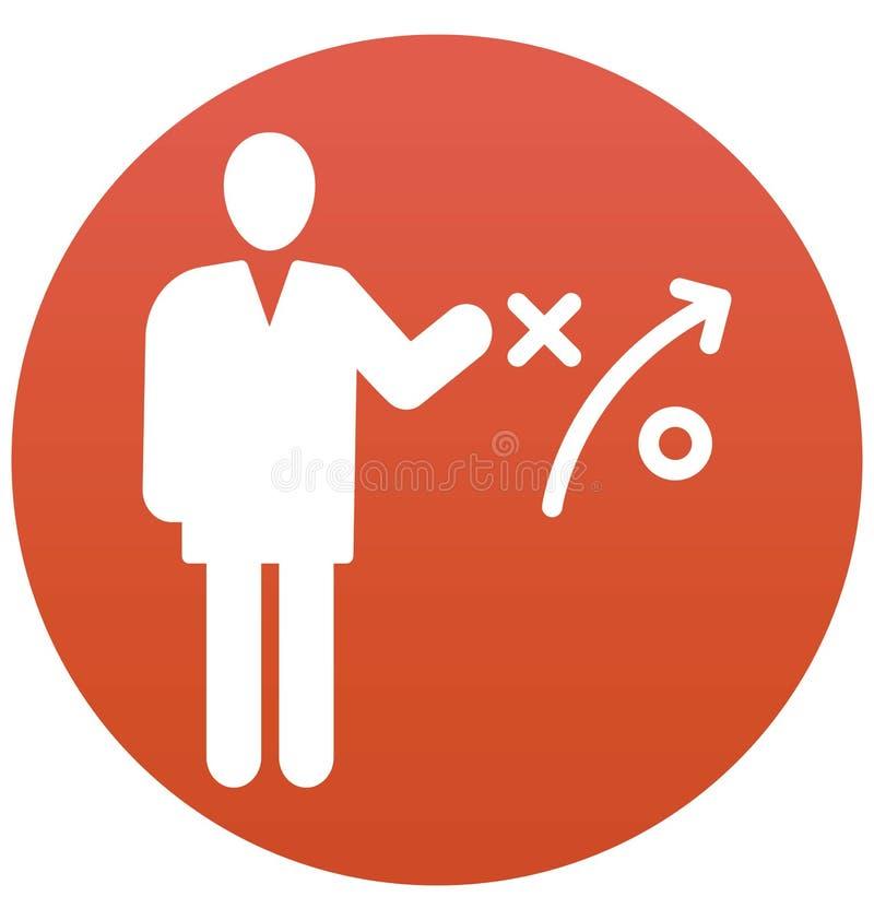 La estrategia empresarial, hombre de negocios Isolated Vector Icon puede estar fácilmente corrige y se modifica libre illustration