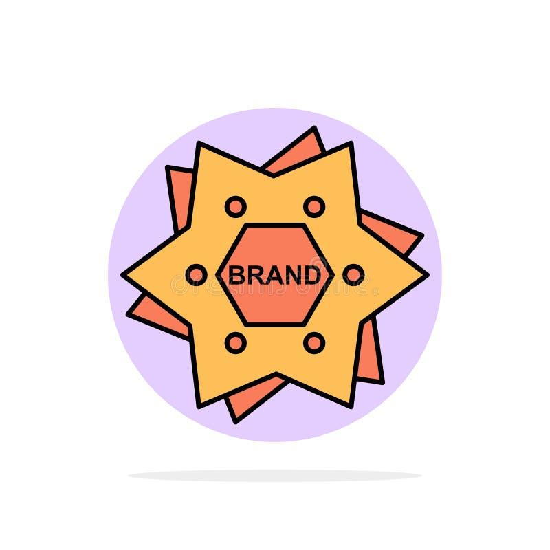La estrella, calificando, marca, logotipo, forma el icono plano del color de fondo abstracto del círculo libre illustration