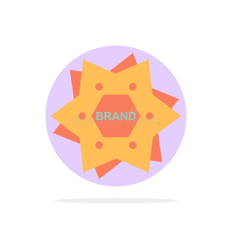 La estrella, calificando, marca, logotipo, forma el icono plano del color de fondo abstracto del círculo stock de ilustración