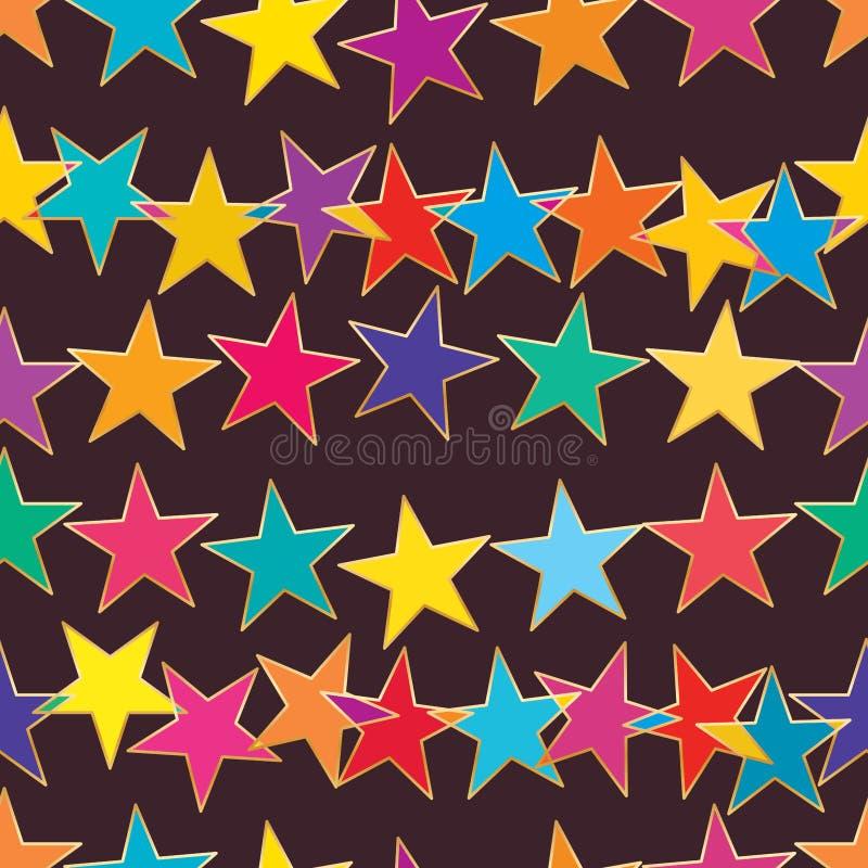 La estrella conecta el modelo inconsútil horizontal del punto libre del tacto ilustración del vector