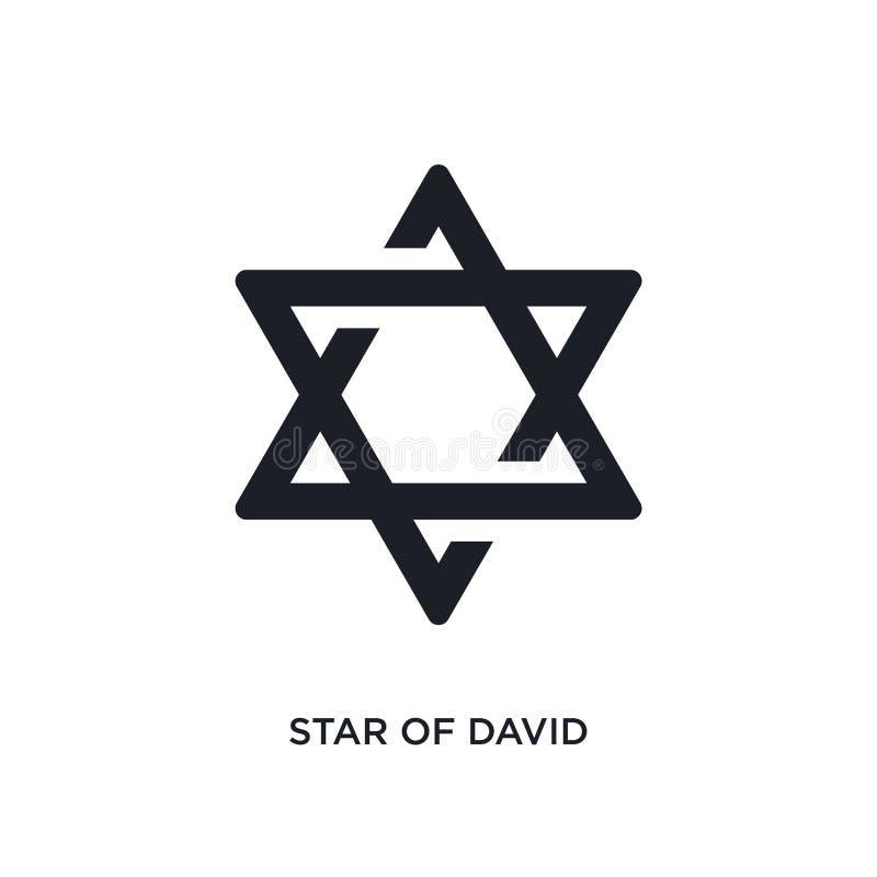 la estrella de David negra aisló el icono del vector ejemplo simple del elemento de iconos del vector del concepto de la religi?n libre illustration