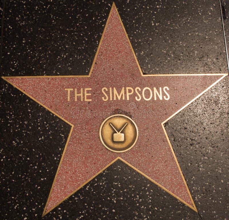 La estrella de Hollywood de Simpsons imagen de archivo libre de regalías