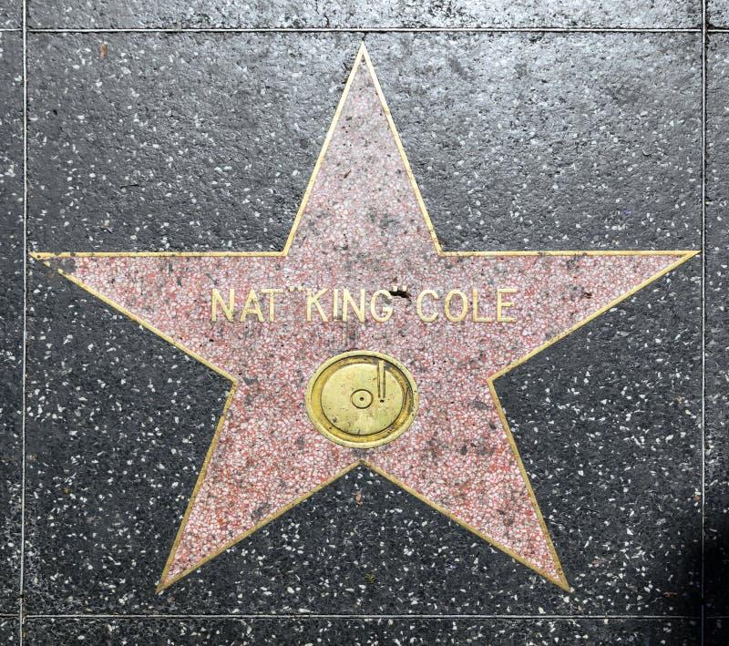 La estrella de Nat King Cole en Hollywood fotos de archivo