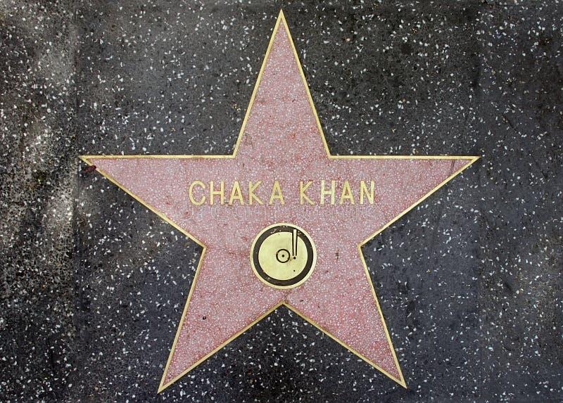 La estrella del cantante legendar Chaka Khan imagen de archivo