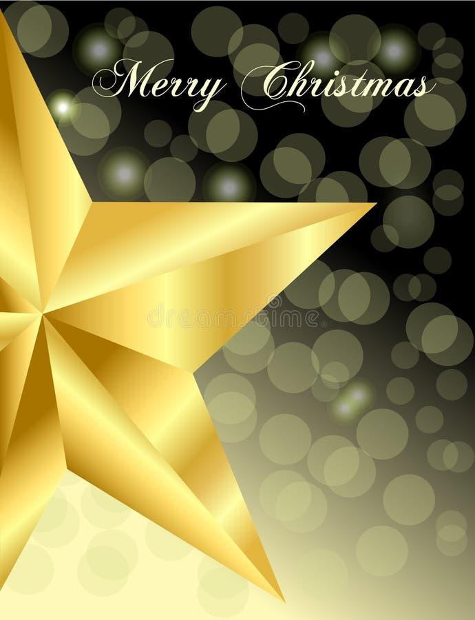 La estrella del oro el noche de la Navidad foto de archivo