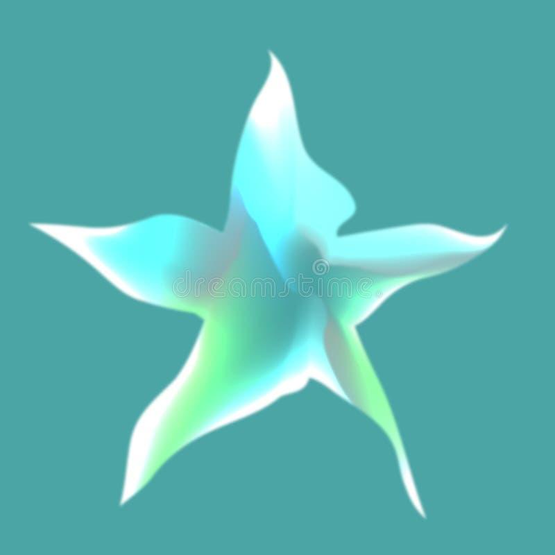 La estrella El panel solar y muestra para la energía alternativa ilustración del vector