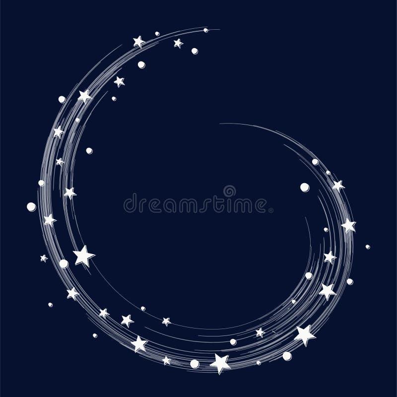 La estrella estalló el espacio, cuando usted desea para arriba en una estrella Ilustración del vector foto de archivo libre de regalías