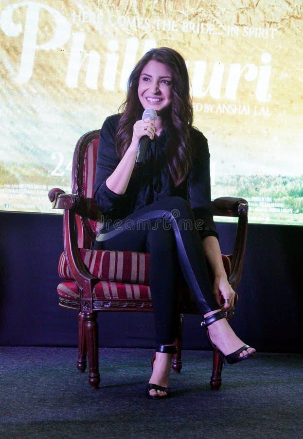 """La estrella estupenda Anushka Sharma de Bollywood promueve su  próximo del """"Phillauri†de la película en Bhopal foto de archivo"""