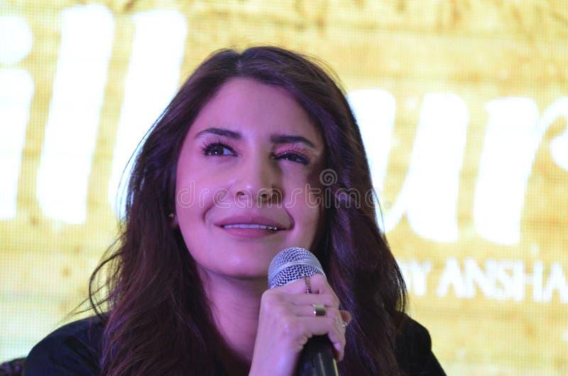 """La estrella estupenda Anushka Sharma de Bollywood promueve su  próximo del """"Phillauri†de la película en Bhopal imagen de archivo"""
