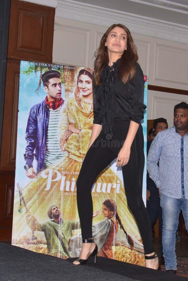 """La estrella estupenda Anushka Sharma de Bollywood promueve su  próximo del """"Phillauri†de la película en Bhopal imagenes de archivo"""