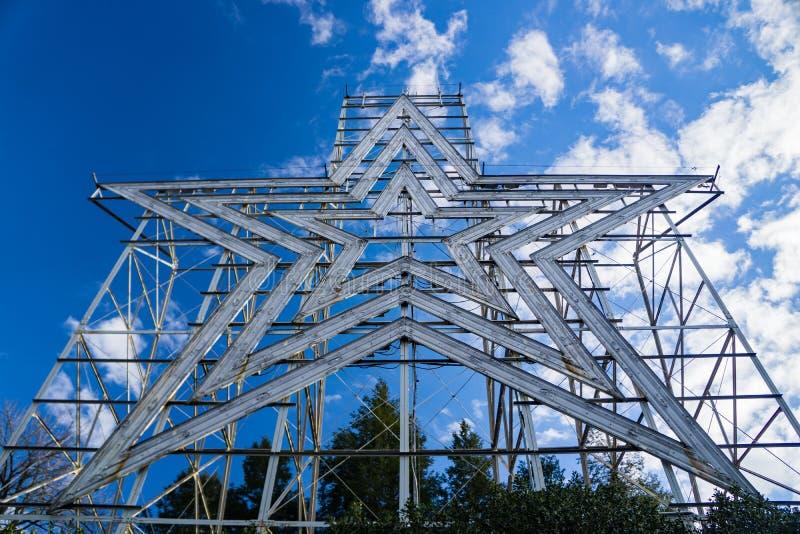 La estrella icónica de Roanoke, Roanoke, Virginia, los E.E.U.U. imagen de archivo