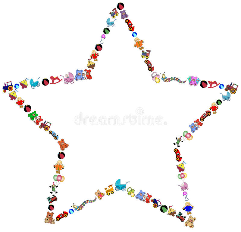 La estrella juega la frontera stock de ilustración